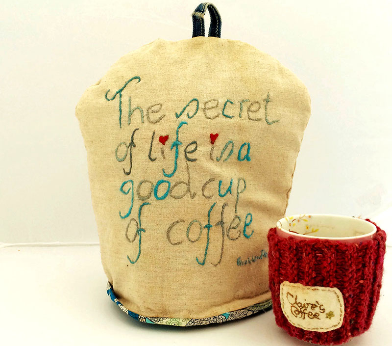 Embroidered Coffee Pot Cosy