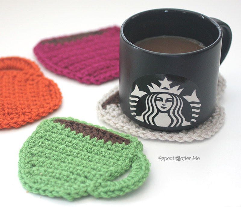crochet coffe coaster