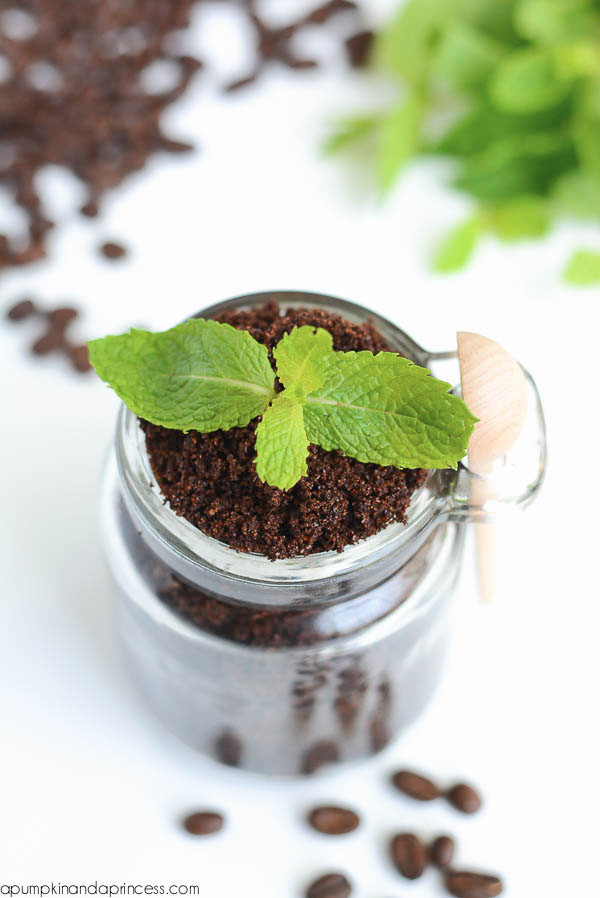 mint coffee scrub