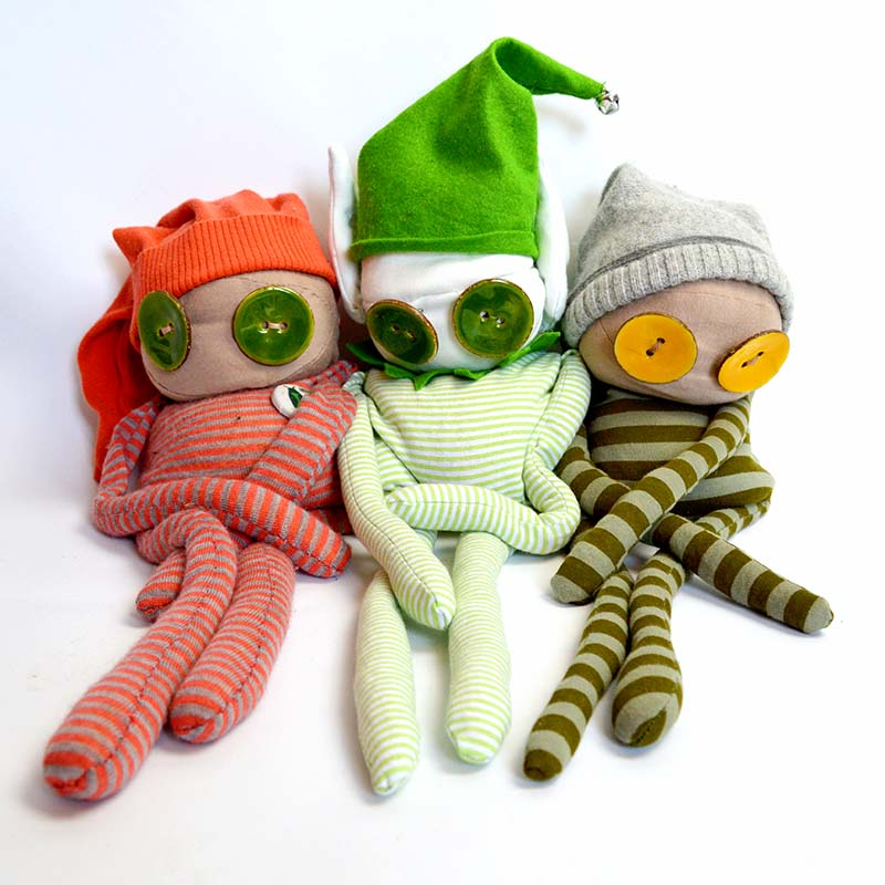 Christmas Elf and buddies - Free pattern