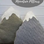 Upcycled sweater mountain cushions pillows