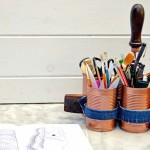 Copper Denim Craft Caddy