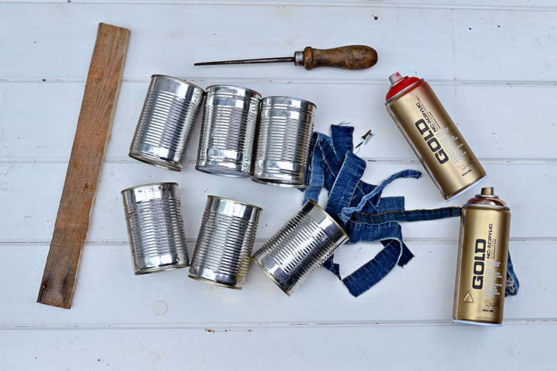 Materials for Denim and Copper Craft caddy