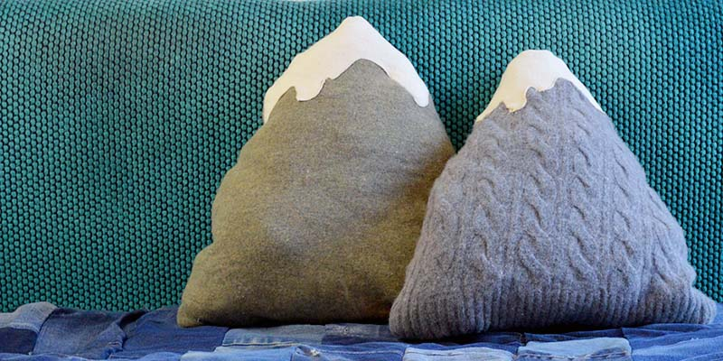 Sweater Mountain Cushions