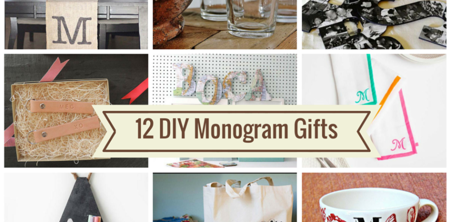 12 Cly Homemade Monogrammed Gifts