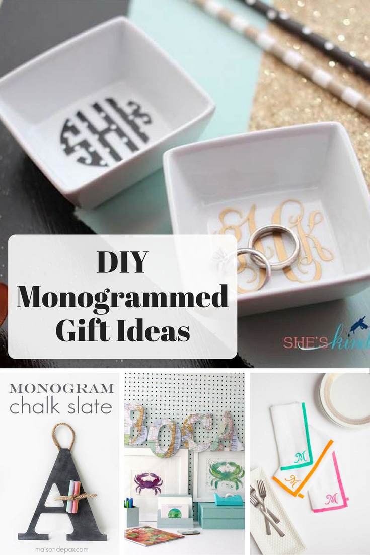 Here I've rounded up some of the classiest DIY monogrammed gifts.