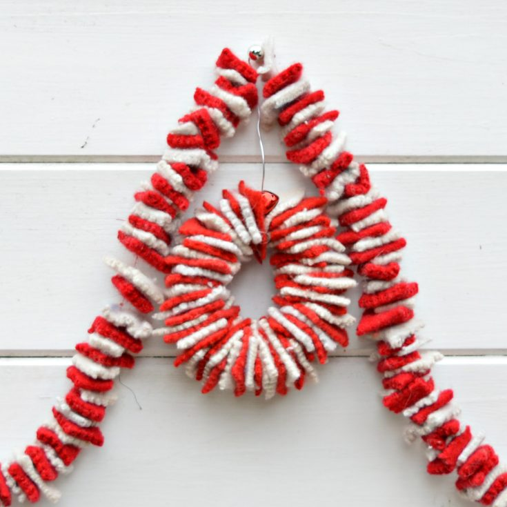 How To Make An Upcycled Felt Garland