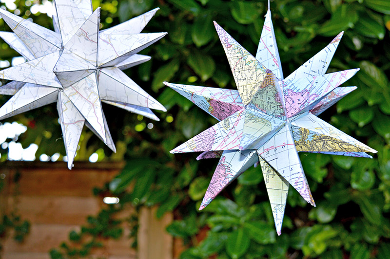 3D Map Star Decorations – Free Printable