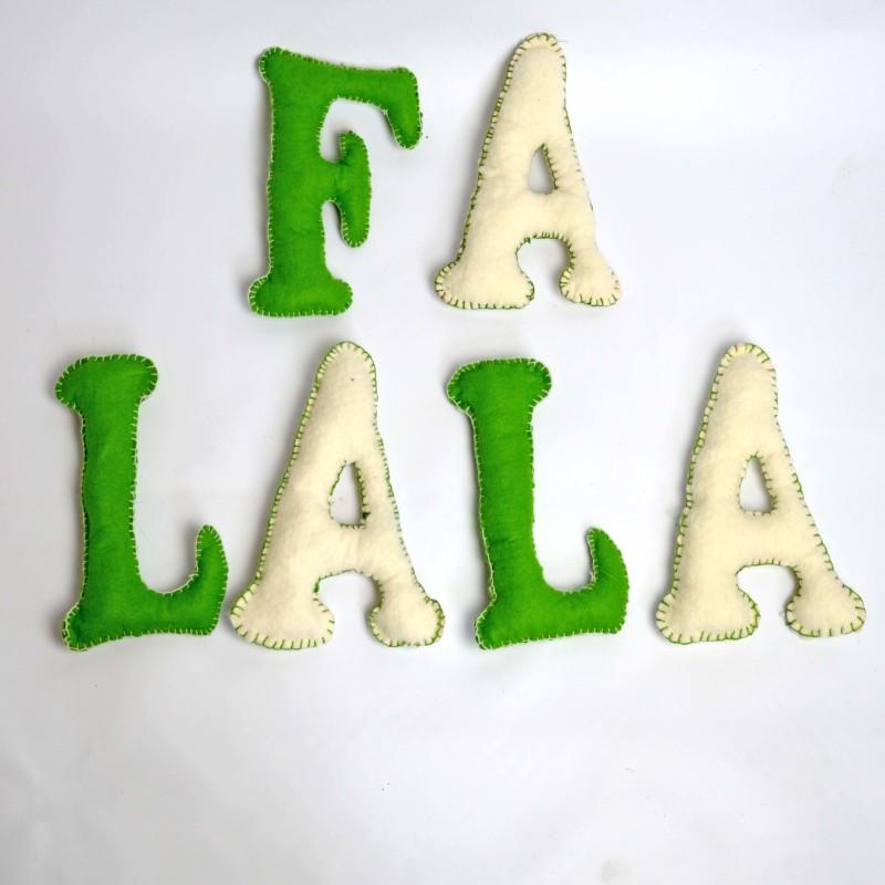 FALALA felt letters