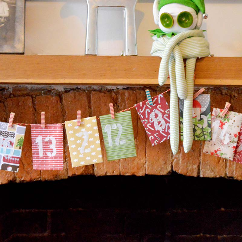 Envelope advent calendar Pillarboxblue