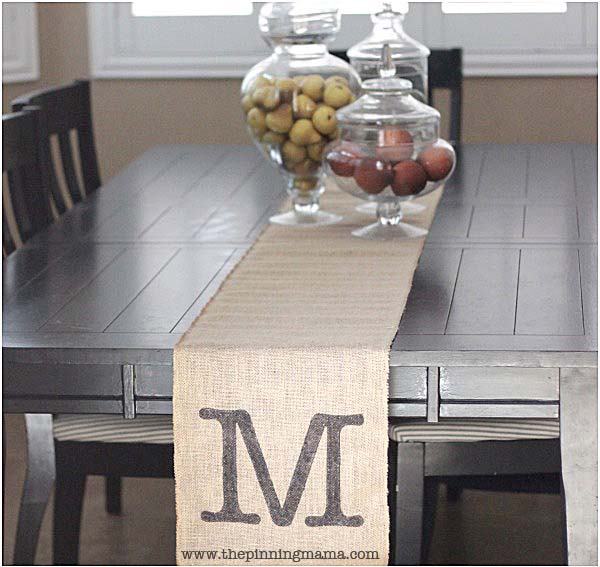 12 monogrammed gifts - Monogrammed table runner
