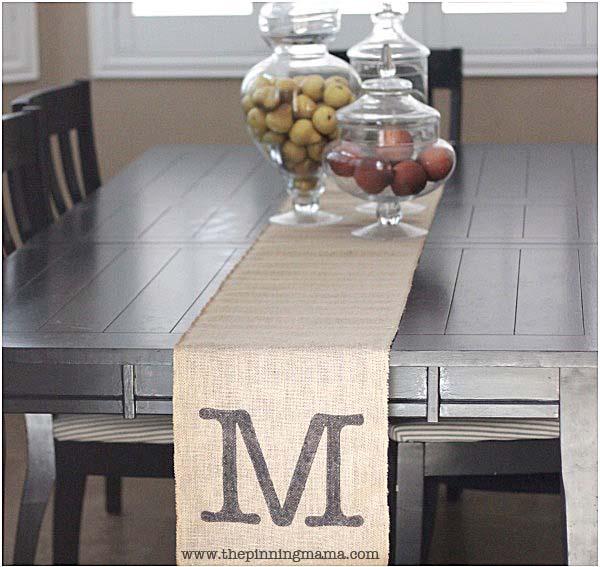 12 monogrammed gifts - Monogrammed table runner