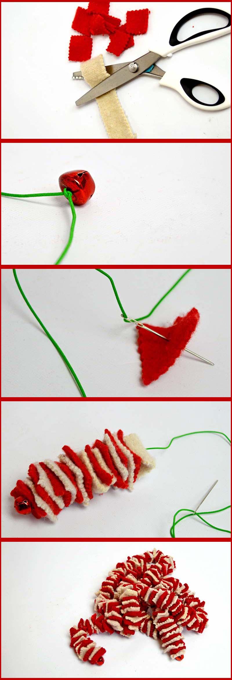 How to make a Felt garland- Pillarboxblue