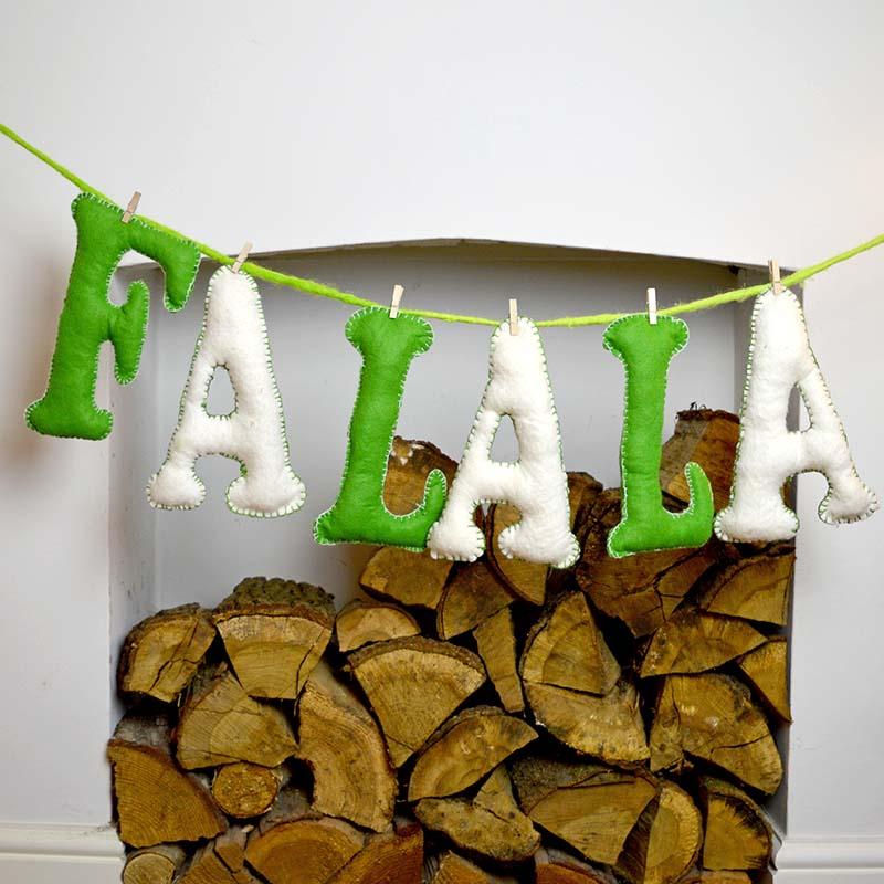 FaLaLa Felt Letters _ Pillarboxblue