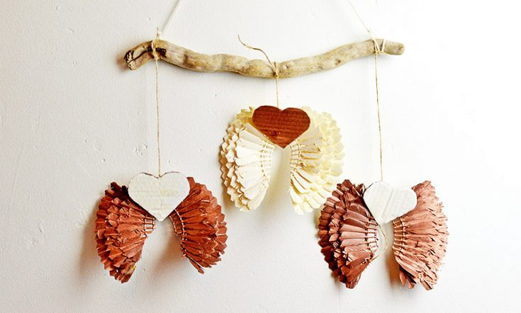 Upcycled Christmas Shuttlecock (Birdie) Angel Wings
