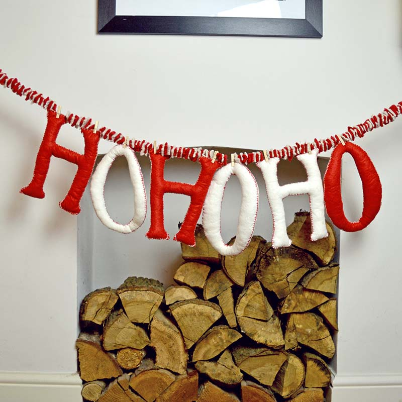 hohoho Felt Letters- PillarBoxblue