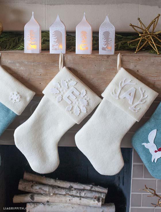 12 monogrammed gifts- monogram christmas stocking
