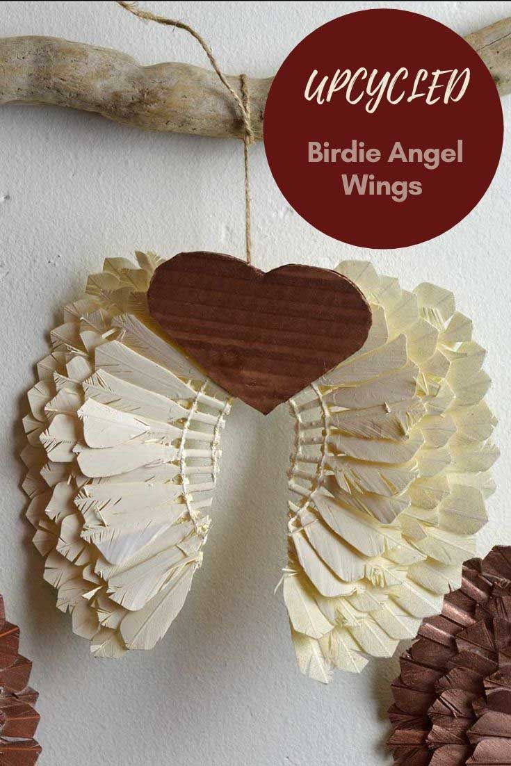 Shuttlecock upcycled angel wings