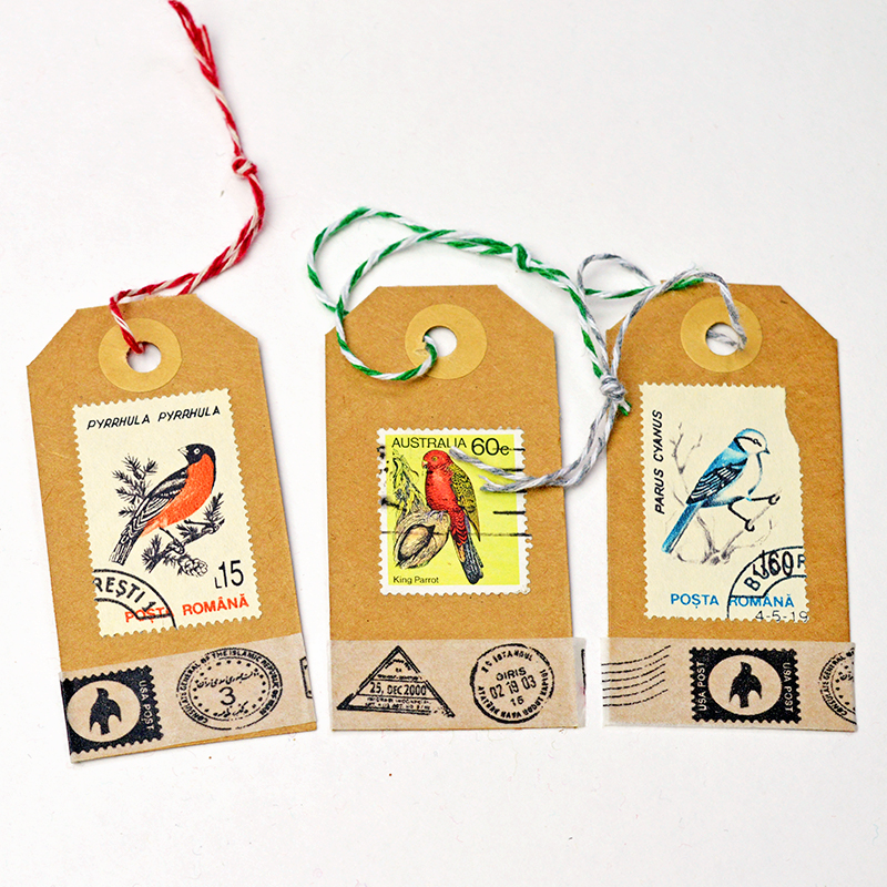 Postage Stamp Tags