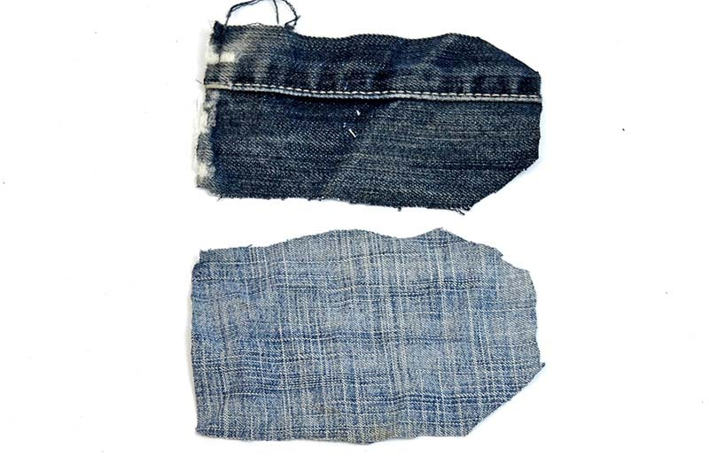 two pieces of denim