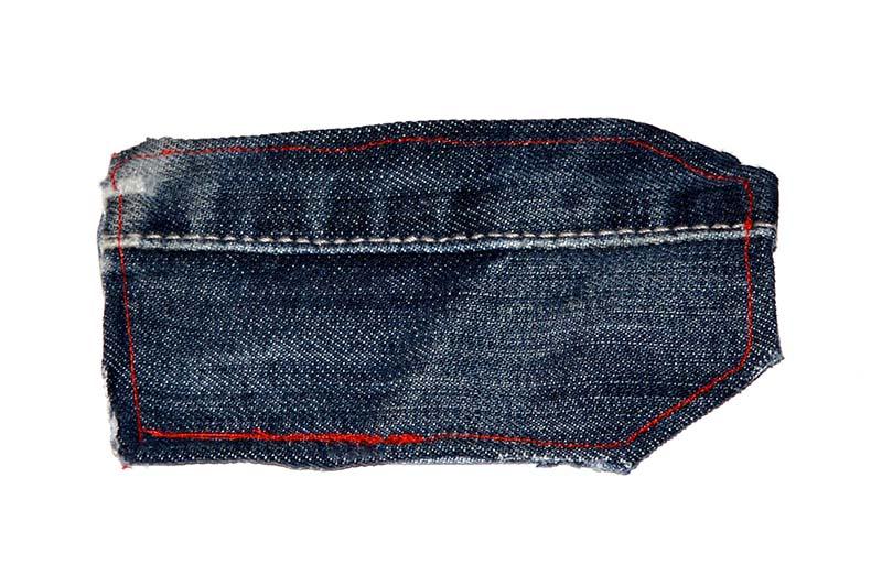 Stitched denim tag
