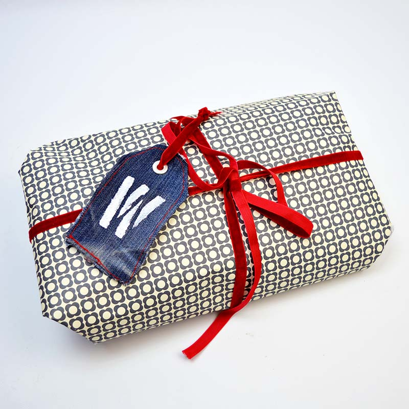 Monogram Denim Gift Tag