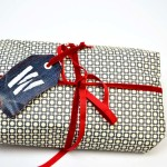 Denim gift Tag - pillarboxblue