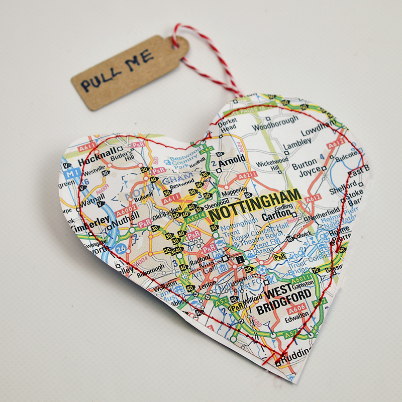 Valentine Map Treat bag
