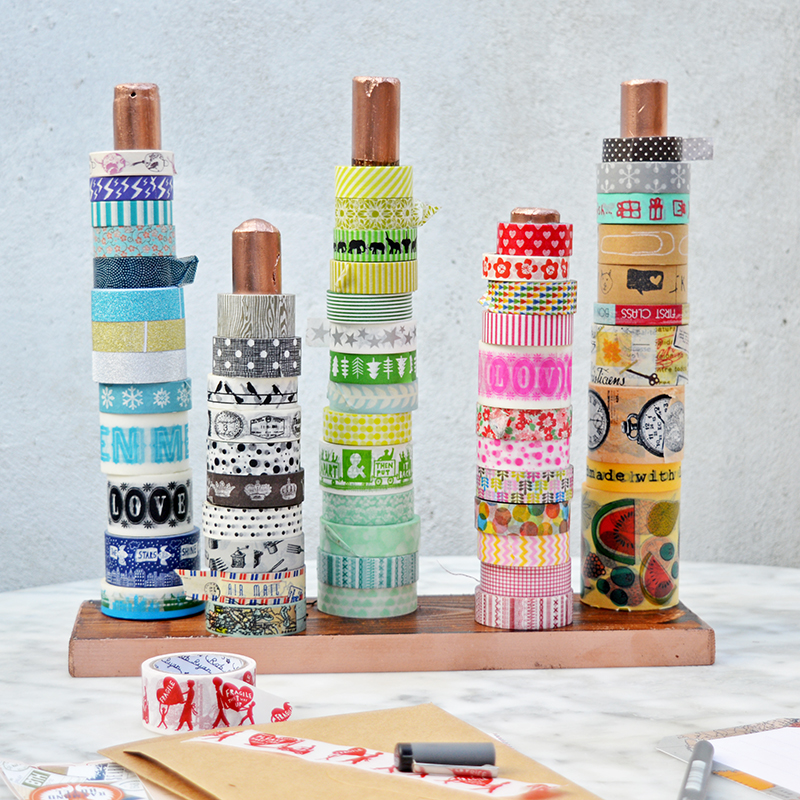 DIY washi tape holder _ Pillarboxblue.com