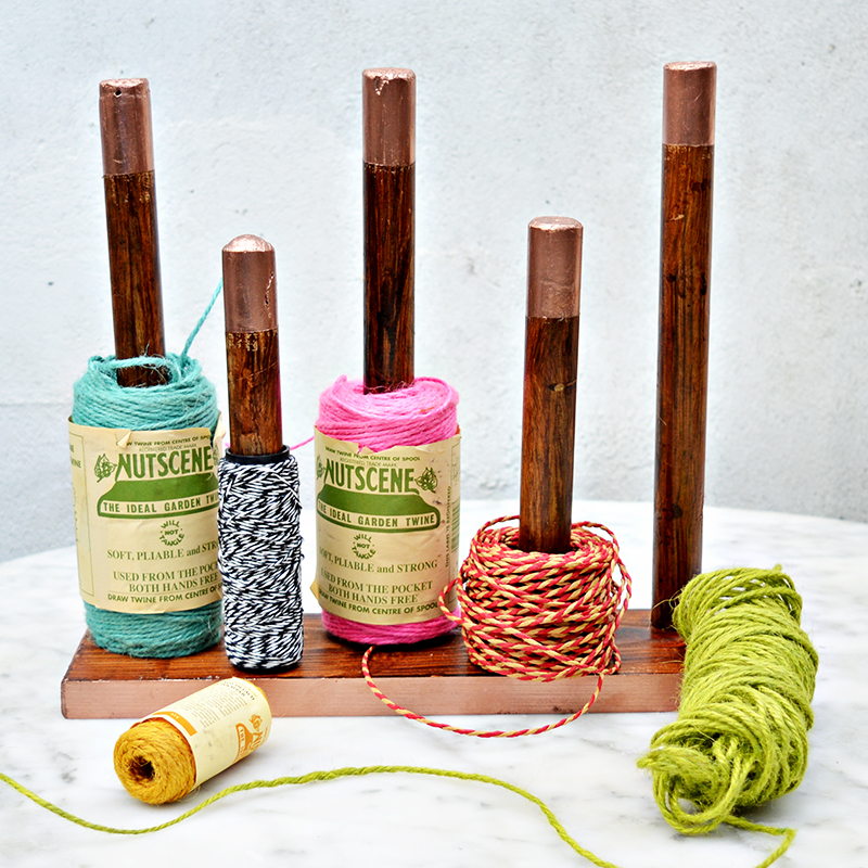 DIY Twine Holder -Pillarboxblue.com