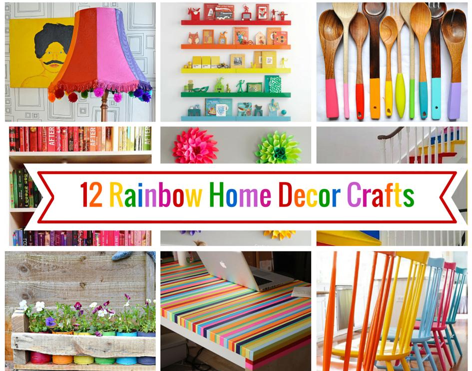 12 Rainbow Home Decor Ideas _ Pillarboxblue.com