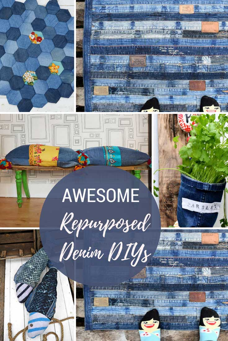 Awesome Denim DIYs for the home