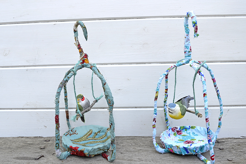 fabric birdcage - Pillarboxblue.com