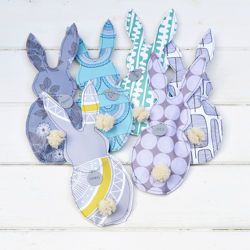 Paper Bunny Treat bags - Pillarboxblue tutorial