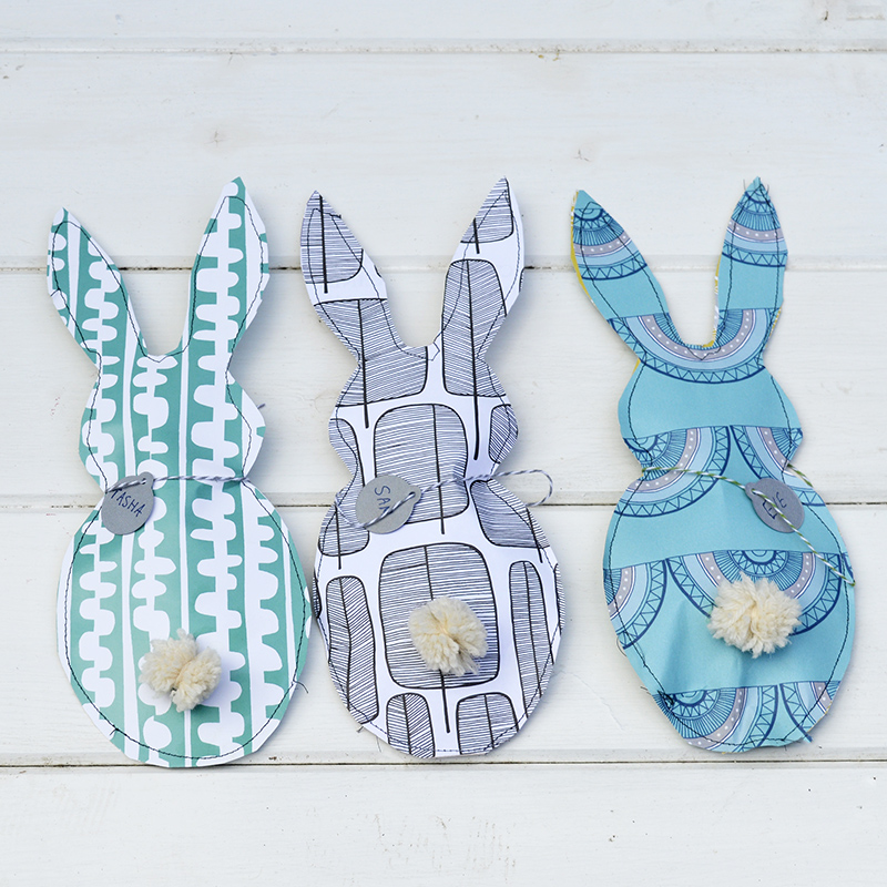 Paper Bunny Treat Bags _ Pillarboxblue.com