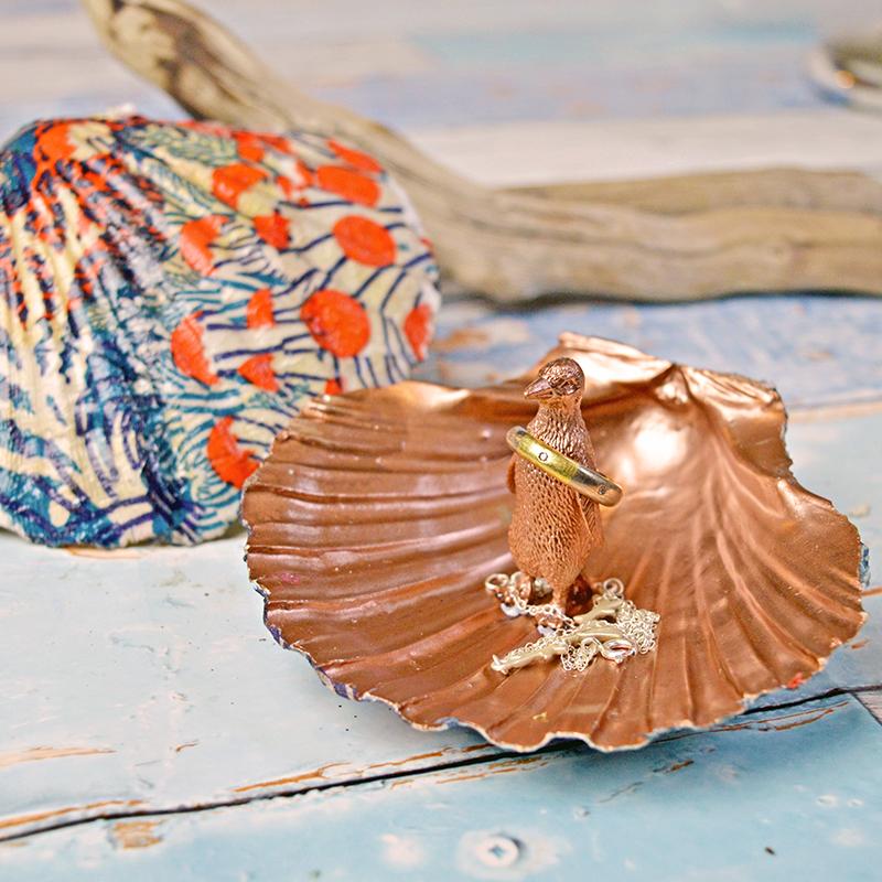 Scallop Shell Trinket Dish - Pillarboxblue.com
