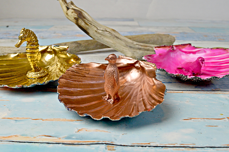 Scallop Shell Trinket dishes - PillarBoxBlue