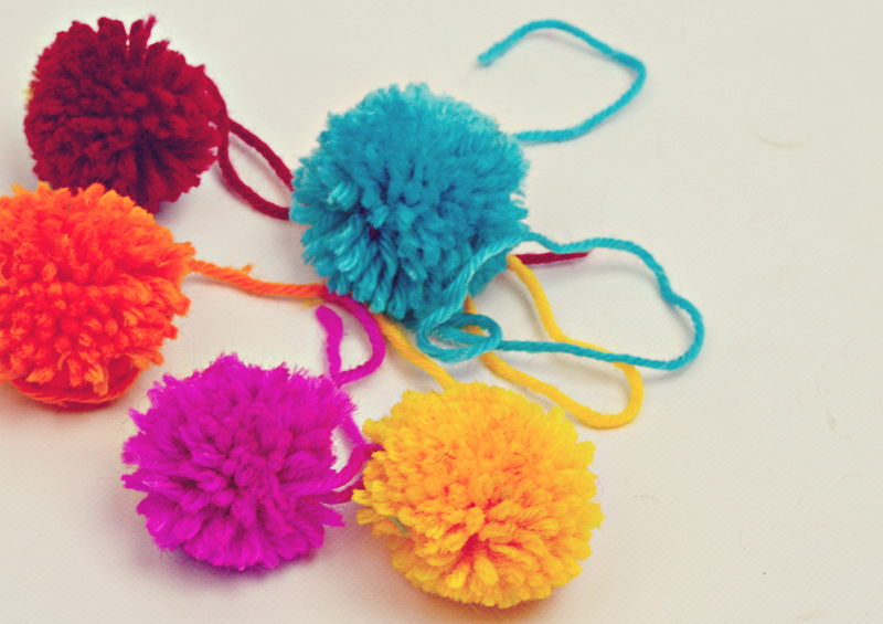 PomPoms for lampshade trim