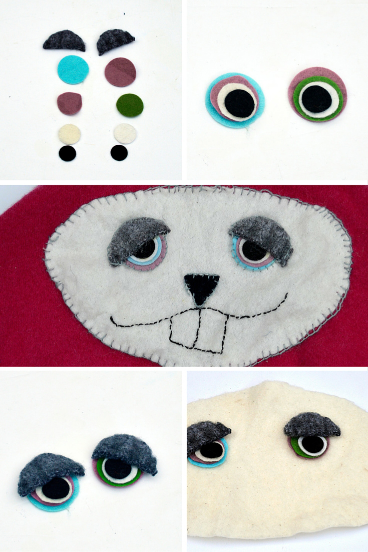 Sweater bunny cushion face instructions