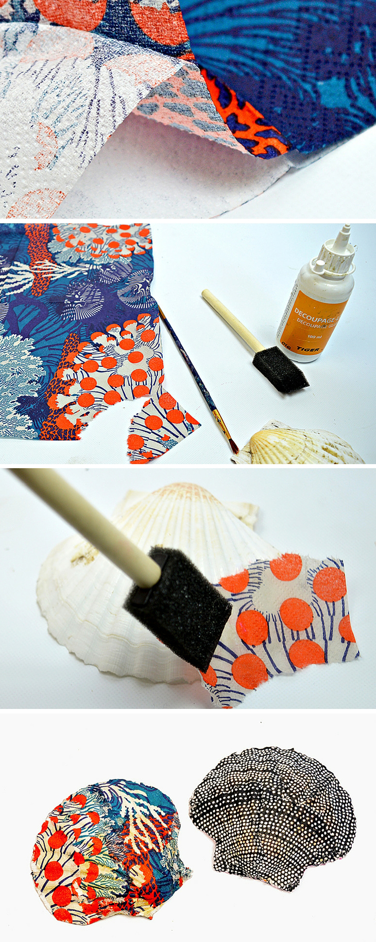 How To Make A Diy Ring Holder From A Scallop Shell Pillar Box Blue