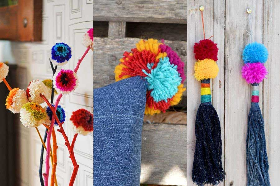 DIY pom pom crafts feature
