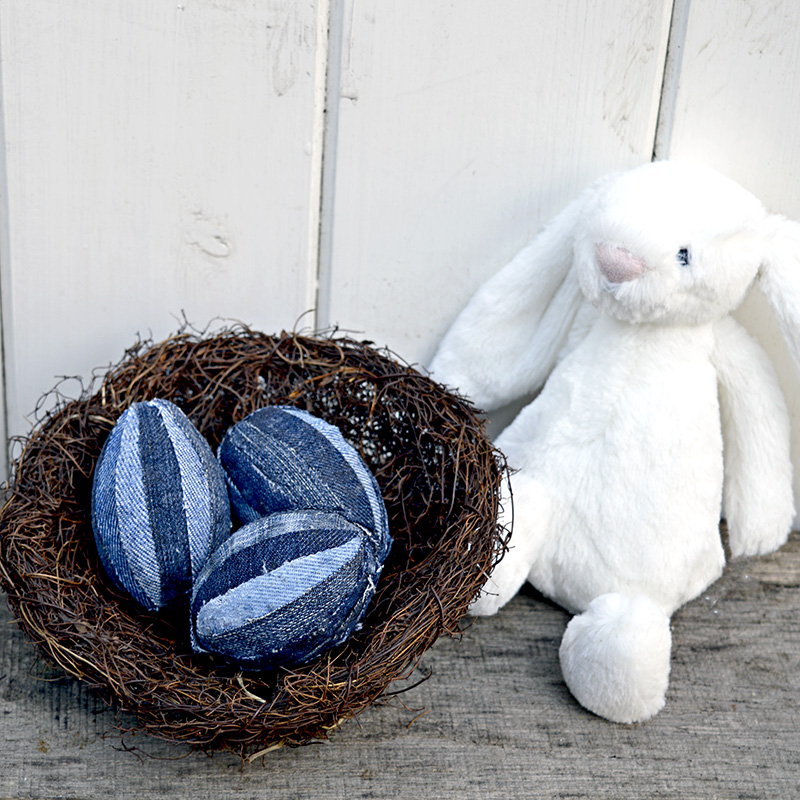 Patchwork Denim Eggs - Pillarboxblue.com