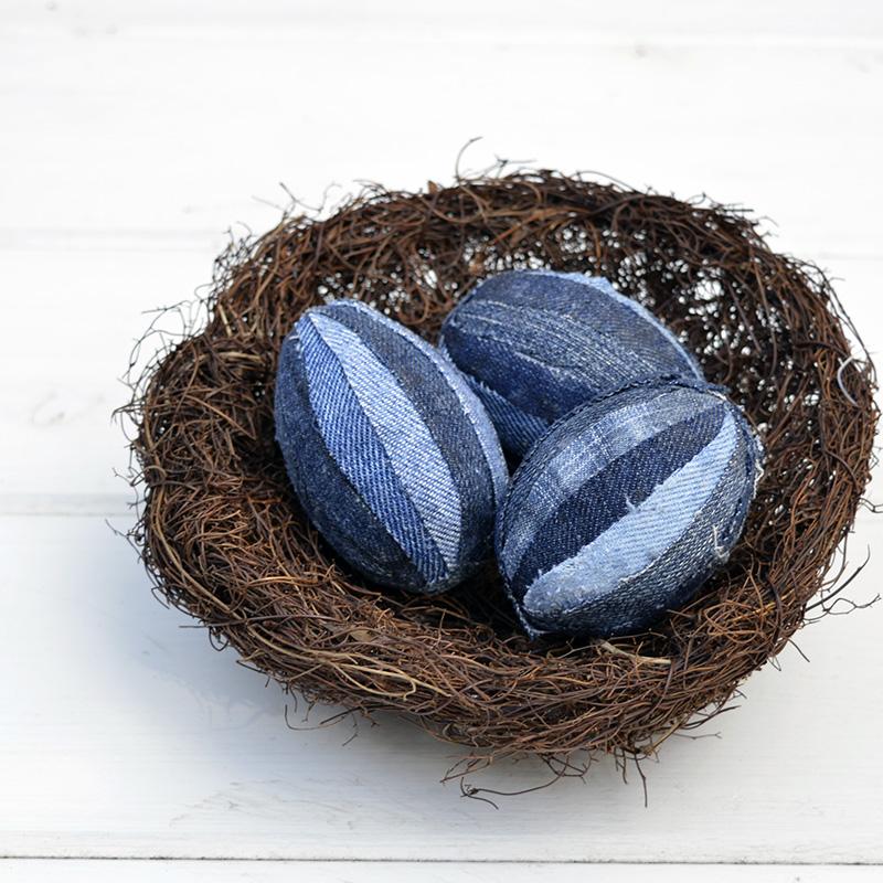 Patchwork Denim Eggs - Pillarboxblue.com