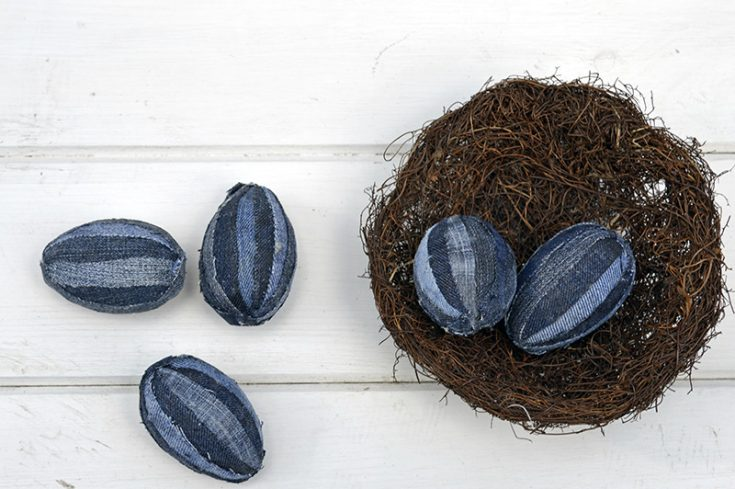 Upcycled Denim Eggs