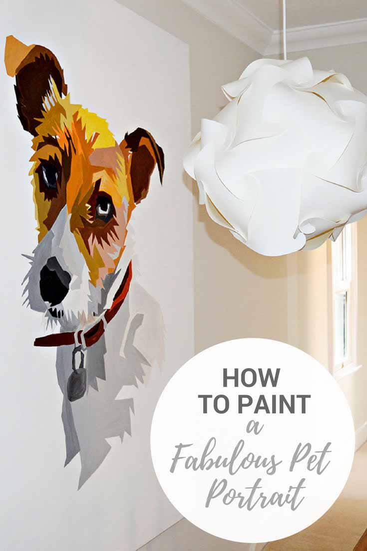 Giant Pet Portrait tutorial