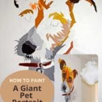 How to paint a giant pet portrait