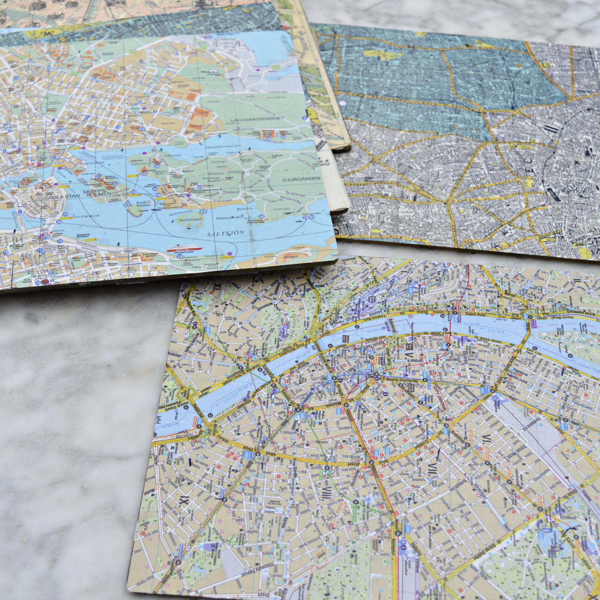City Map table mats - Pillarboxblue.com