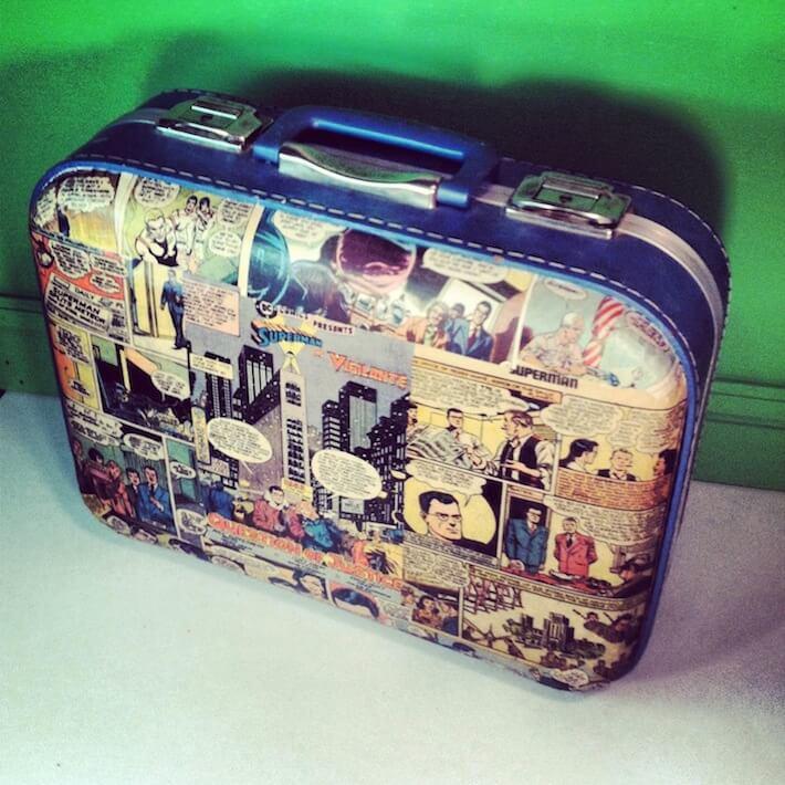 vintage comic suitcase