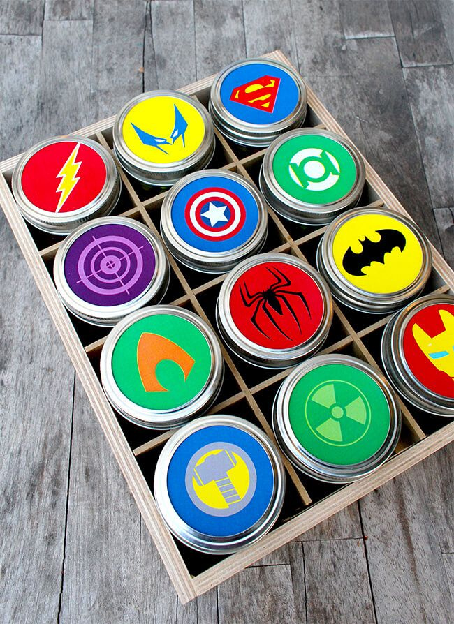 Superhero fathers day gift