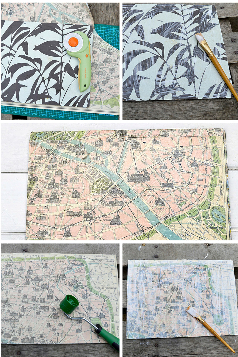 Map table mats - Pillarboxblue tutorial